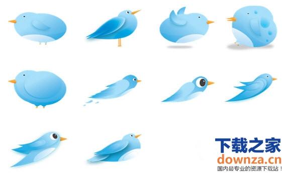 下载之家 应用软件 杂类工具 > 蓝色小鸟可爱电脑图标 下载   标签